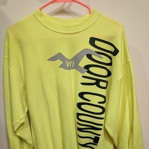 Day glo tourist sweatshirt from Door County, WI